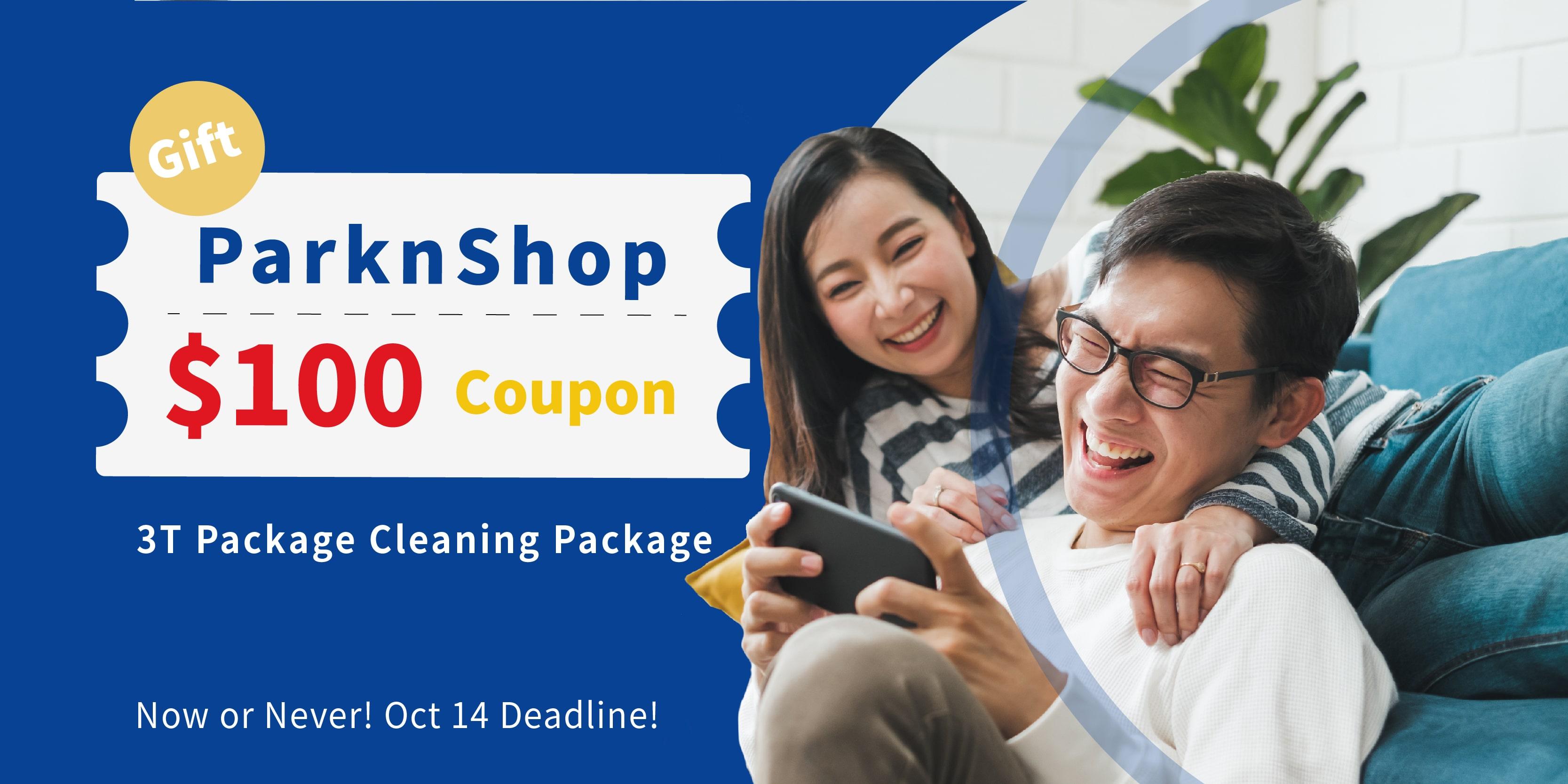 $100 ParknShop Voucher on 3X PLAN